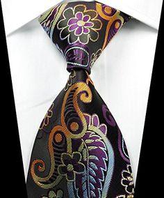 For that Special Man - 100% Silk Necktie, New Classic Paisley Black Gold Purple Tie JACQUARD WOVEN Men's Suits Ties http://www.amazon.com/dp/B00WPULCE6/ref=cm_sw_r_pi_dp_K4tAvb0VSDRB1