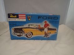 1955 FORD FAIRLANE SUNLINER REVELL 1:24 SCALE SKILL 2 VINTAGE PLASTIC MODEL KIT  #Revell Plastic Model Kits, Plastic Models, Revell Model Kits, Ford Fairlane, Kit Cars, Lunch Box, Scale, Ebay, Vintage