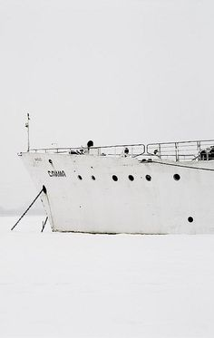 A ship in the frozen arctic
