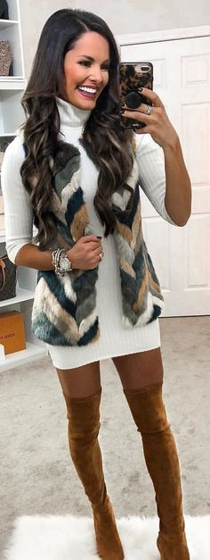 Ideas for dress winter outfit casual sweaters Winter Dress Outfits, Casual Dress Outfits, Casual Winter Outfits, Trendy Dresses, Trendy Outfits, Fashion Outfits, Casual Shoes, Dress Winter, Autumn Casual