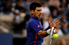 Novak Djokovic (SRB)[2]  faces off against Andy Murray (GBR)[3] in the finals of the 2012 US Open - Rob Loud/USTA
