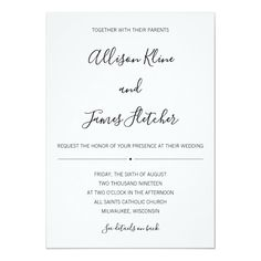 Shop Simple Two-Sided Invitation with Online RSVP created by GreyStreetPress. Personalize it with photos & text or purchase as is! Simple Wedding Invitations, Zazzle Invitations, Rsvp Online, Simple Weddings, Colored Envelopes, Envelope Liners, Amazing Gardens, Wedding Cards, Paper Texture