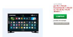 """Smart TV LED 48"""" Samsung UN48J5200 Full HD Conversor Digital 2 HDMI 1 USB WI-FI 120 HZ >"""