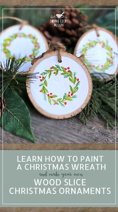 Make your Christmas extra special with hand painted Christmas ornaments you can make yourself! Easy step by step instructions.