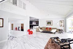 40 Stunning and Clean White Marble Floor Living Room Design - DecoRecord Marble House, Marble Floor, Tile Floor, Interior Design Living Room, Living Room Designs, Living Room Decor, Living Room Flooring, Floor Design, Luxury Interior