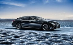 Download Wallpapers Lexus Ls 500h 2018 4k Luxury Car Black