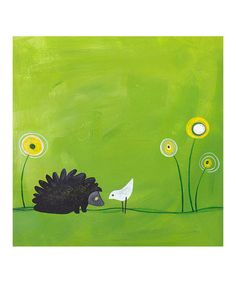 Take a look at this Hedgehog Gallery-Wrapped Canvas by Heather B. Warriner on #zulily today!