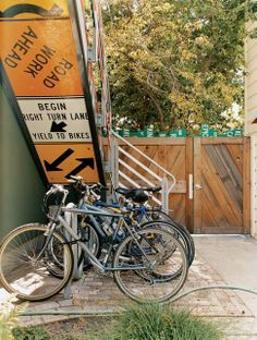 Repurposed Signs: Stairs