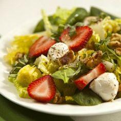 Ingredients - Strawberry, Mozzarella and Walnut Salad   ¼ cup olive oil 2 tablespoons balsamic vinegar ¼ teaspoon salt