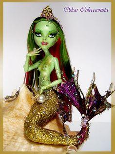Venus Mermaid Monster High OOAK Repaint Doll Custom No Barbie Fashion Royalty | eBay