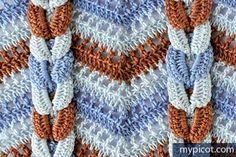 unusual zig-zag (chevron) crochet pattern idea with tutorial