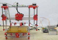 ecksbot fully assembled 3D printer in Red ABS