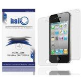 Halo Screen Protector Film Clear (Invisible) for iPhone 4S 4G 4 (3 Pack + 3 Bonus Back Films) – Premium Japanese Screen Protectors