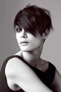 asymmetrical pixie cut for round face - Google Search