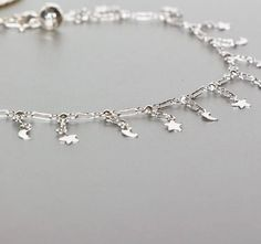 Moon And Star Anklet Silver Anklet Dainty Anklet Foot