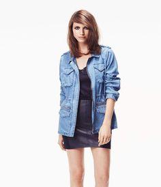 Saharienne rockUne version saharienne multipoches de la veste en jean ! Elle…