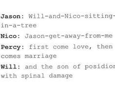 Tumblr  PJO Will Solace Nico DiAngelo  Percy Jackson  Jason Grace