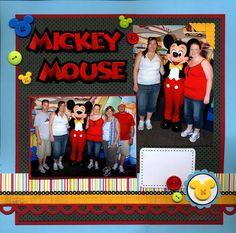 Disney scrapbook layout - Mickey Mouse - Scrapbook.com
