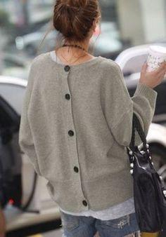 back-buttoned sweater #NaaiAntwerp