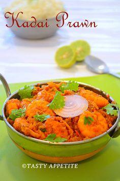 Kadai Prawns recipe.. http://www.tastyappetite.net/2014/04/kadai-prawn-shrimp-recipe-prawns-kadai.html