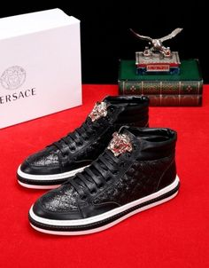 a9151ffc5a versace replica high quality AAA+ leather shoes men shoes women ...