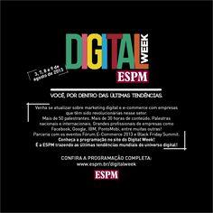 Digital Week ESPM - Associado Alumni tem 20% de desconto. Participe!