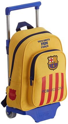 Safta Barça-2 Mochila Infantil con Ruedas, Color Amarillo: Amazon.es: Equipaje Mochila Samsonite, Ariadne Diaz, Hiking Backpack, School Bags, School Supplies, Malta, Backpacks, Barcelona Spain, Soccer