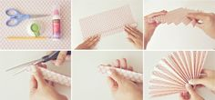 DIY Paper pinwheels tutorial