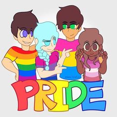 I'm not super proud of this which is why I only did the lineart and base colors, but I wanted to post anyway. Hopefully I will be able to do something else for LGBT Pride later this month. From left to right, Guy (Gay), Katelyn (Bisexual), Nate (Pansexual), and Teony (Lesbian). For more information on their sexualities, you can check their Aphmau Wiki pages. I didn't get the chance to draw all of the sexualities and genders of the LGBT spectrum, but I support whoever anyone chooses to love…