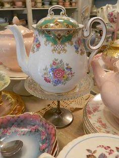 tetera de porcelana inglesa