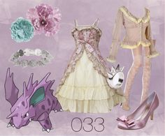 """033 Nidorino Lolita"" by meiki ❤ liked on Polyvore"