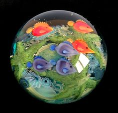 "Daniel Salazar Barrier Reef Paperweight available on our Web site (under ""Vintage Items)"