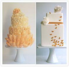 orange themed cakes