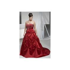 Beautiful Red A-line Strapless Taffeta cheap Designer Aurora wedding dress plus size Style Auro270534. #Aline, #Red, #Strapless, #Train, #Empire, #Wedding, #Gown, #Dress, #Bridal. Only $156.00