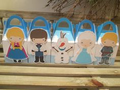 Frozen Inspired Gable Favor Boxes Set of 10 by zbrown5 on Etsy, $12.00