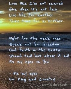 for KING and COUNTRY fix my eyes - Google Search