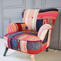 Thai Hmong patchwork armchair