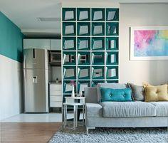 Em espaços integrados, cobogós, cortinas e outros elementos delimitam usos - UOL Estilo de vida