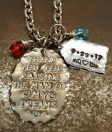 Thank You For Raising The Man Of My Dreams Natural Brass Oval w/ Silver Luggage Tag And 2 Birth Stones 2nd Birth, Birth Stones, Mother In Law Gifts, Stamped Jewelry, Prince Charming, The Man, Raising, Brass, Make It Yourself
