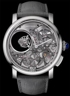 """Cartier Rotonde De Cartier Minute Repeater Mysterious Double Tourbillon Watch - see more about it here on aBlogtoWatch.com """"Cartier is rarely the first name that comes to mind when it comes to the annals of fine watchmaking, but the French maison has quietly and consistently been bolstering its catalog of super-interesting, high-end models. Case in point: the recently announced Rotonde De Cartier Minute Repeater Mysterious Double Tourbillon..."""""""