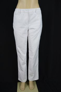 ec27550d0e6 Dressbarn Womens 8 Ivory Off White Lined Dress Pants Slacks Flat Front  Straight  Dressbarn