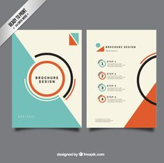 Plantilla de folleto minimalista Vector Gratis