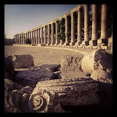 The Oval Plaza at Jerash, #Jordan #Amman #Travel #Photography