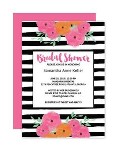 Here are some bridal shower templates that you wont believe are 13 bridal shower templates that you wont believe are free floral striped bridal filmwisefo