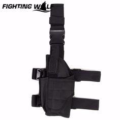 Airsoft Military Left Leg Drop Pouch Tactical 600D Nylon Universal Pistol Drop Leg Left Leg Holster Competitive Price Black