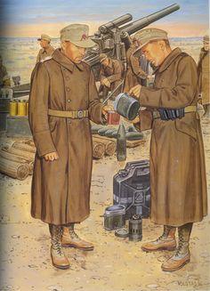 German Afrikakorps nr 6 (Artilleri)