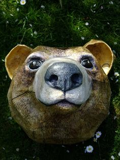 Paper mache animals, this bear is wonderful