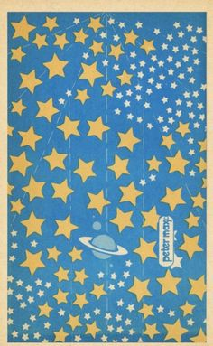 Peter Max design for a paper airplanes book (1971).