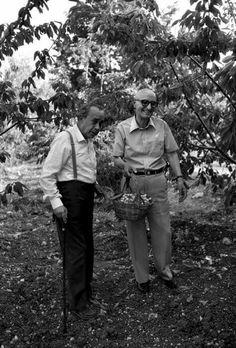Bufalino e Sciascia fotografati da F. Scianna,  1987