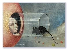 The Garden of Earthly Delights (detail), a triptych painted by Hieronymus Bosch